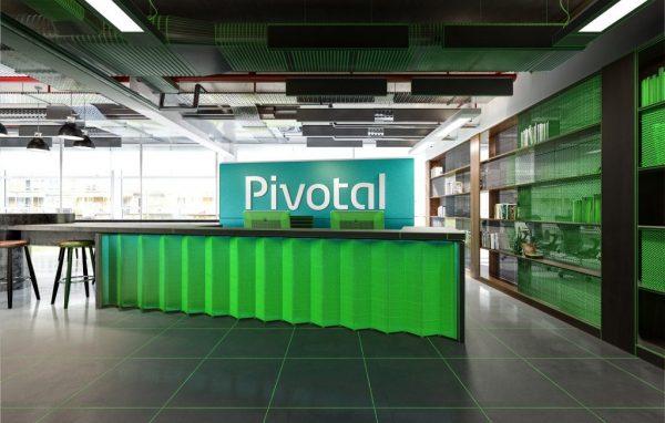 משרד מעוצב בצבע ירוק