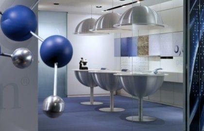 צבע כחול בעיצוב משרדים