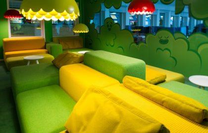 עיצוב משרד Candy Crash ממלכת המשחקים