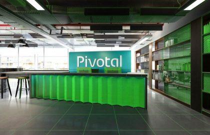עיצוב משרד Pivotal – תרבות ארגונית של שיתוף פעולה