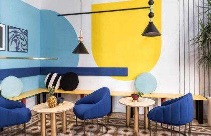 מלון בוטיק טרנדי גיאומטרי+אתני בוולנסיה